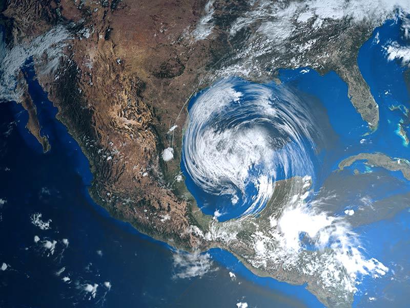 Hurricane-on-Map